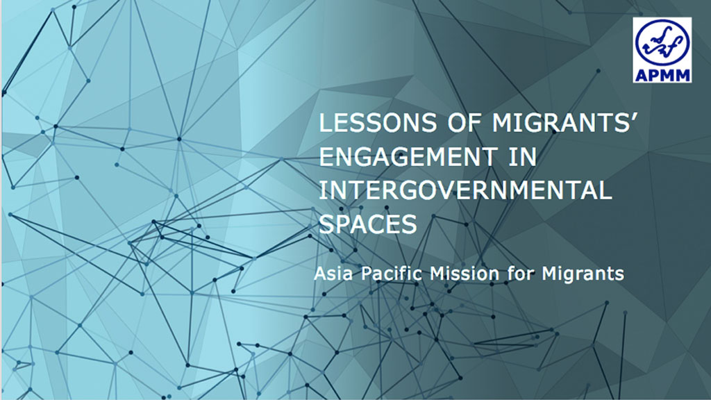 thumbnail of presentation by Aaron Cedaroy, Asia-Pacific Mission for Migrants