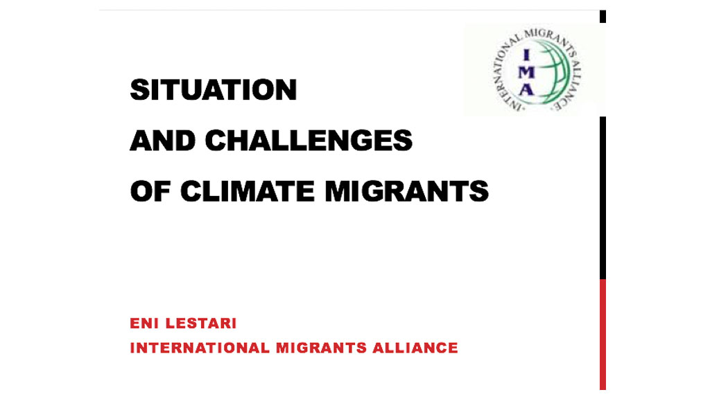 Thumbnail for situation and challenges of climate migrants